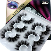 HBZGTLAD 4/ 6pairs natural false eyelashes fake lashes long makeup 3d mink lashes eyelash extension mink eyelashes for beauty 08
