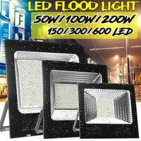 50W/100W/200W Waterproof Projector LED Floodlight Motion Spotlight Outdoor Garden Street Security Reflector Flood Light Lamp