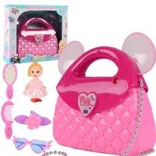 Light Storage-Bag Children's Toy House 5-Piece-Set Makeup Projection Music Electric Portable