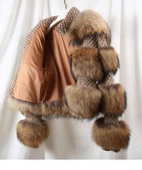 OFTBUY 2019 Winter Jacket Women Parka Real Fur Coat Natural Raccoon Fur Woolen Coat Bomber Jacket Korean Streetwear New Oversize