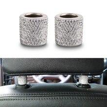 Appui-tête de voiture universel en cristal, strass, bague, colliers, breloques décoratives, accessoires d'intérieur de voiture pour femmes et filles