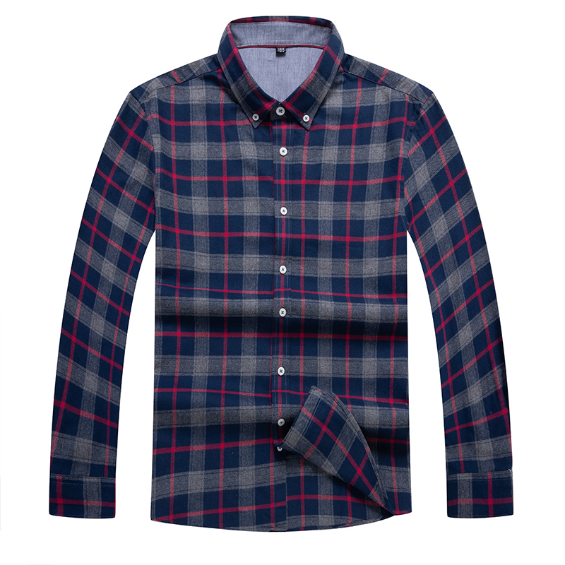 10xl 8xl 6xl 5xl  New Arrival Long Sleeve Men Shirts Cotton Formal Dress Shirt Male Fashion Loose Fit Plaid Casual Shirt Men