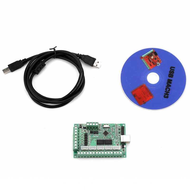 1Set MACH3 USB Interface Board MACH3 Motion Control Card USB Interface Board For Engraving Machine CNC Controller