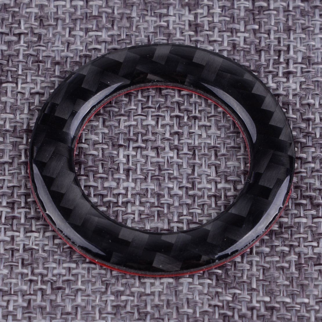 DWCX Carbon Fiber Interior Ignition Push Button Ring Cover  Engine Start Stop Decor Trim Fit For Infiniti Q50 2014-2017 2018