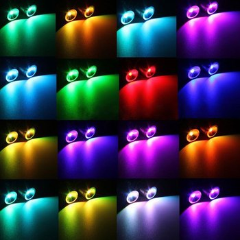 For BMW E39 E60 E61 E63 E64 2Pcs RGB LED Multi-Color Car Flashing Headlight Error Free LED Angel Eyes Marker Lights Bulbs 2pcs 6000k led angel eye bulb head light lamp car headlight lights accessories fit for bmw e39 e53 e64 1 5 6 7 series x3