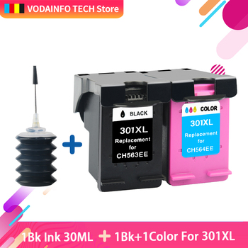 QSYRAINBOW replacement for hp 301 ink cartridges hp 301 xl Deskjet 2050 1510 1050 1510 2000 2510 2540 3050a 3054 printer hp301 black ink cartridge for hp 301 xl 301xl ink cartridge for hp deskjet 1050 2050 3050a printer