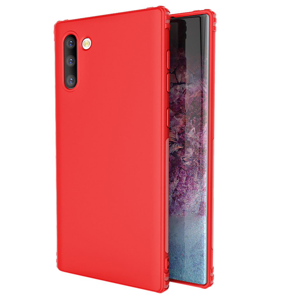 Fashion Phone Case For Samsung Galaxy Note 10 6.3-Inch Soft Rubber Matte Four-Corner Drop-Proof TPU Case