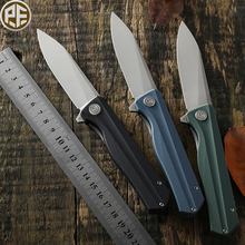 Original Petrified Fish 818 Camping Hunting Folding Knife D2 Blade G10 Handle Bearing Outdoor Pocket Survival Flipper Edc Knives