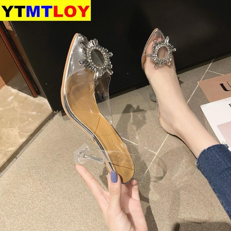 Pvc Clear Transparent Fetish Luxury Designer Woman Extreme Mules Super High Heels Women Sexy Shoes Ladies Pumps Sandals
