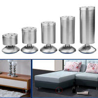 Stainless Steel Adjustable 4Pcs/set Sofa Foot Cabinet Foot Bed Foot for Kitchen Home Furniture Legs Hardware for Home Decoration