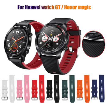 22mm Silicagel for huawei watch gt 2 band 46mm Strap for galaxy active 46mm HONOR Magic strap Bracelet GT2 Smartwatch Watchband leather bracelet watchband wrist band for honor magic for huawei watch gt 2e gt2 46mm bracelet strap for huami amazfit gtr 47 mm