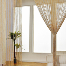String Curtain Valance Shiny Tassel Line Curtain Solid Color Window Door Curtain Divider Drape Room Decor Anti-mosquito Fly