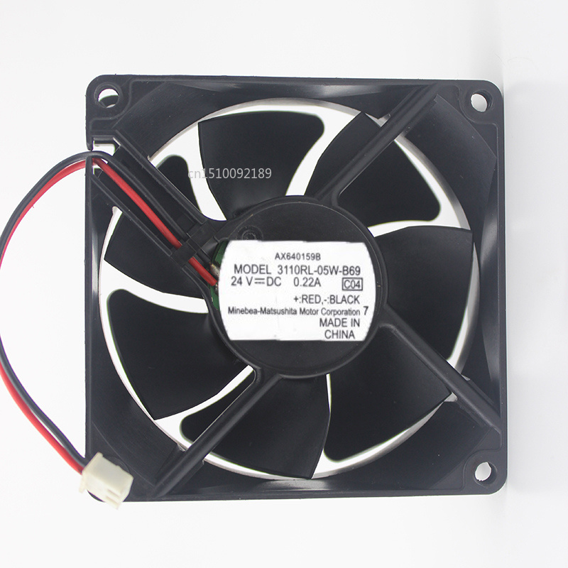 For Original 3110RL-05W-B69 24V 0.22A AX640159B 8CM Inverter Cooling Fan Free Shipping