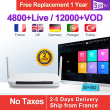 Q9 Quad Core RK3128 Media Player 1G+8G Android TV Box with 3500+ HD IPTV French Arabic Europe Subscriptions 1 year SUBTV Account v88 android tv box with 1 year esuntv configured arabic europe french italy portugal iptv set top box media player