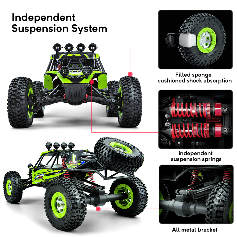 Image 3 - RC Car 4WD 1/12 2.4G 48km/h High Speed Updated Version RTR Rc truck Radio Control Buggy Off Road vehicle Electric Toy Xmas Gifts-in RC Cars from Toys & Hobbies