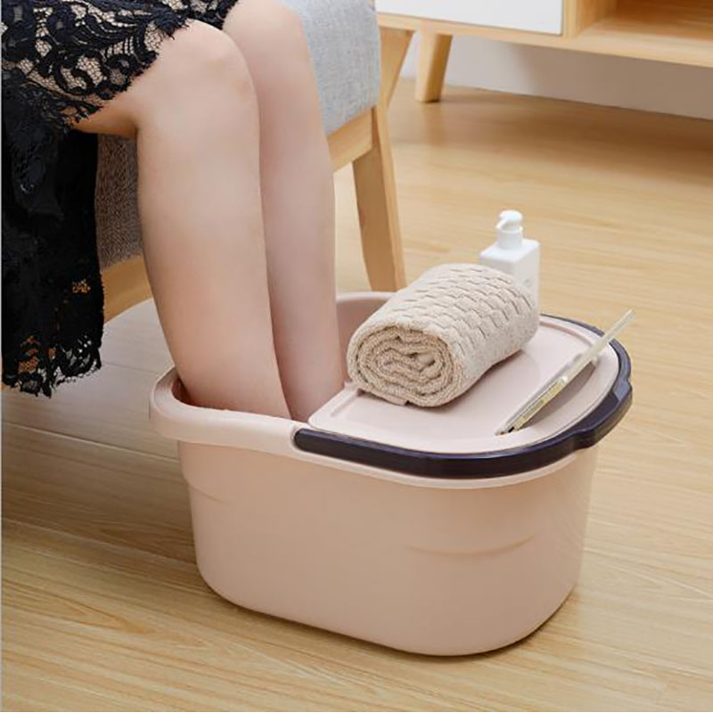 Thickened Thermal Insulation Box Foot Washing Barrel Foot Bath Massage Barrel Plastic Foot Basin Foot Bath