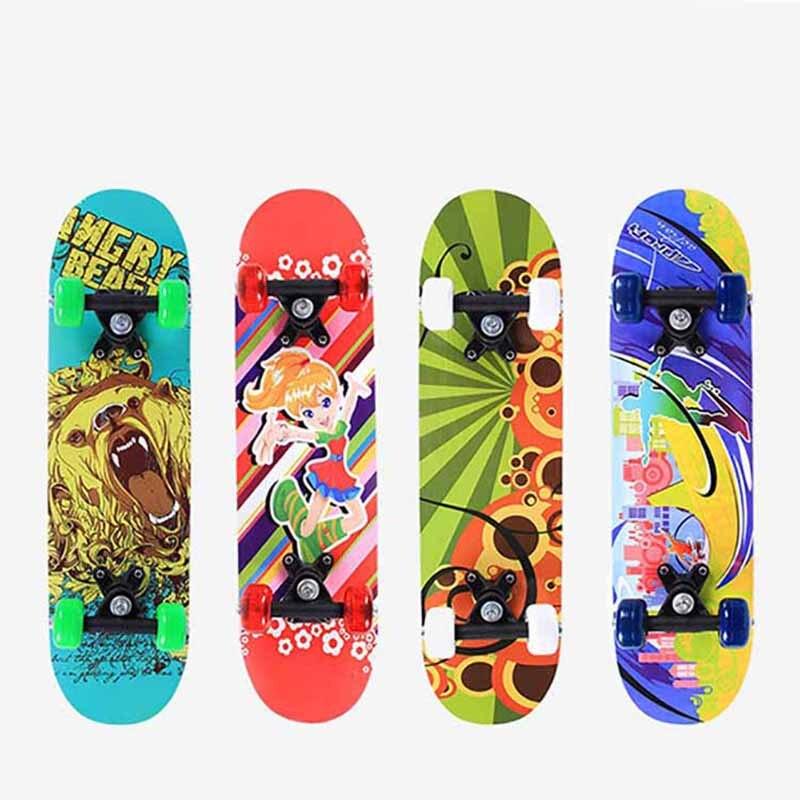 60*15CM Children Skateboard 5 Layers Maple Double Rocker Penny Board Four-Wheels Longboard Trucks Kids Skate Board Skateboarding