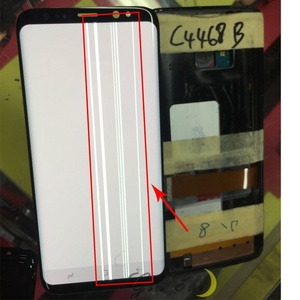Image 3 - Do Samsung S9 wyświetlacz LCD dotykowy G960 G965 wyświetlacz LCD do Samsung S9 Plus wyświetlacz linii pasma LCD telefon komórkowy wadliwy ekran
