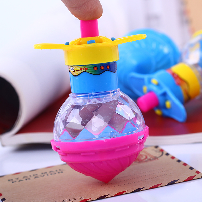 Children's Luminous Rotating Toy Plastic Gyro Not Fingertip Gyro  LED Lights Cool Outdoor Indoor Boy Girl Fun Toys Confrontation