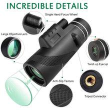 40x60 мощный Монокуляр мобильный телефон телескоп водонепроницаемый