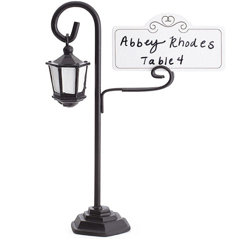 Street Lamp Card Holder Table Number Photo Memo Clip Wedding Table Decor