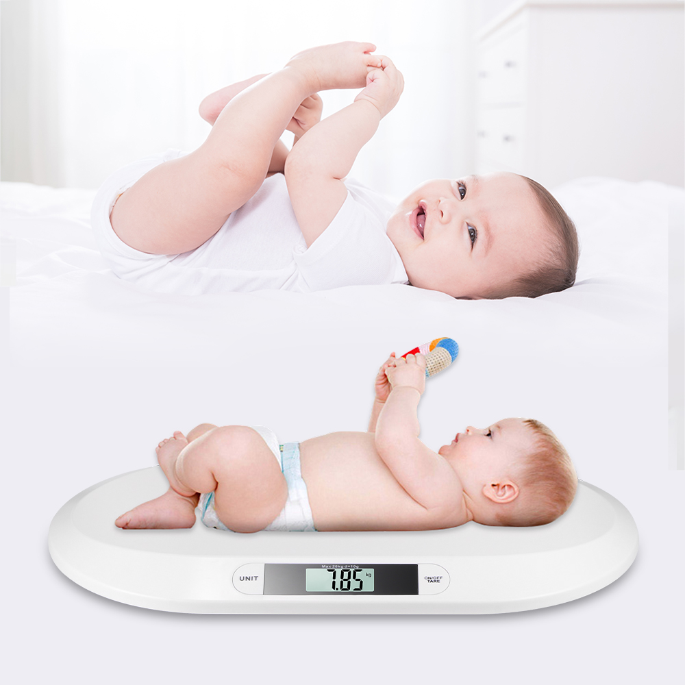 Baby Scale Anti-Drop Baby Scale Weight Toddler Grow Electronic Lcd Display Child Pets ABS Meter Digital Infant Scale Up To 20Kg
