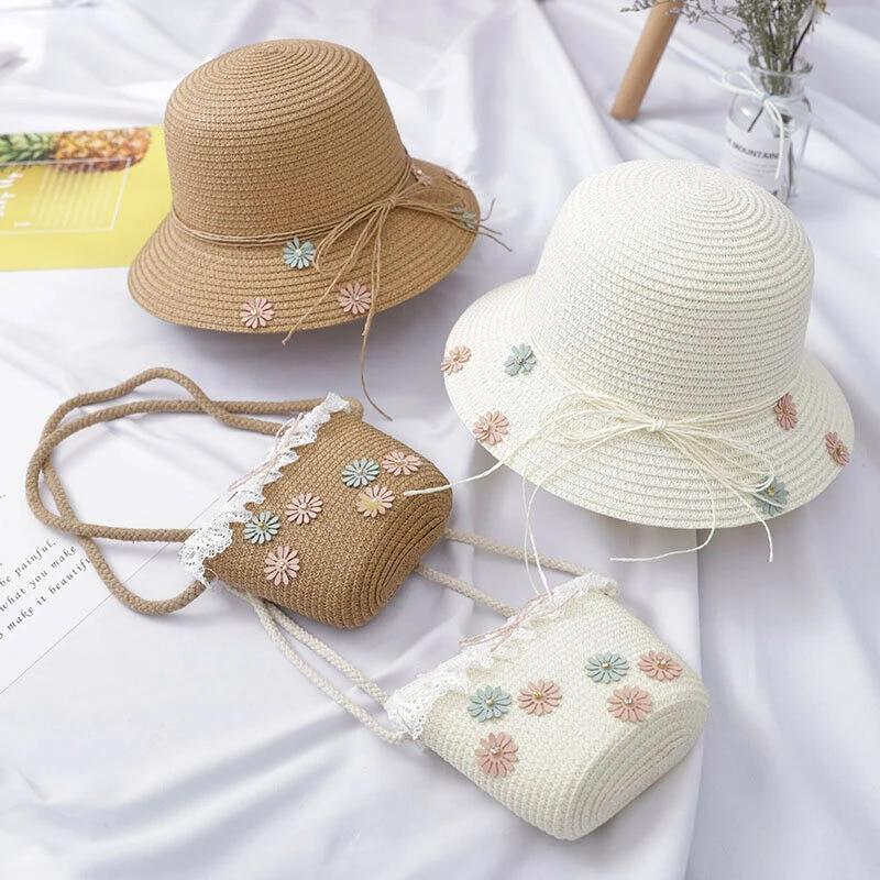 Cotton Toddler Sun Hat Summer Bonnet Railroad Denim design
