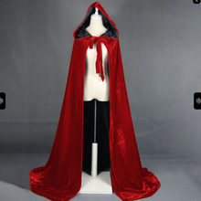 Gothic Vrouwen Middeleeuwse Cape Winter Halloween Cape Jas Winter Warme Lange Hooded Mantel(China)