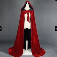 Gothic Women Medieval Cape Winter Halloween Cape Coat Winter Warm Long Hooded Cloak