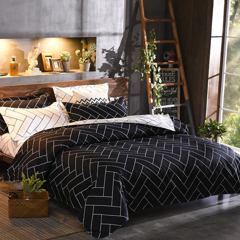Duvet Cover & Pillow Shams Set 8 Size Single Double Full Queen King Size 240/220 200*200 150x200 Ultra Soft Brushed Fabric