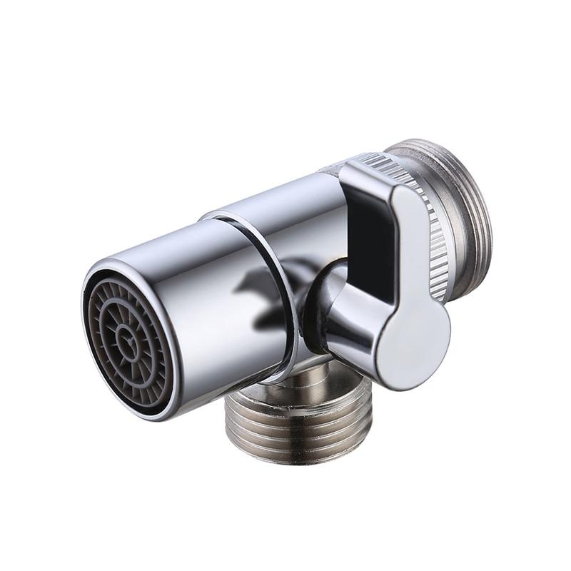 Faucet Valve Diverter Adapter Copper Bathroom Kitchen Sink Valve Water Tap Faucet Splitter Adapter For Home Toilet Bidet Sprayer