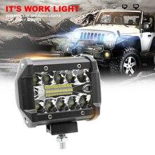 """1/2 шт светодиодный светильник, автомобильный рабочий светильник, комбинированный """" 12 В 24 в 60 Вт, Авто Вождение, внедорожный светильник, Точечный светильник для лодки, трактора, грузовика 4x4, внедорожника, ATV"""