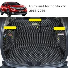 Lsrtw2017 Leather Car Trunk Mat Cargo Liner for Honda Crv 2017 2018 2019 2020 5th cr-v Rug Carpet Interior Accessories
