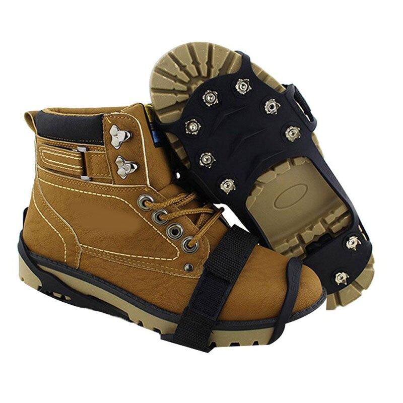 1 пара новых зимних Противоскользящих снежных ботинок, захваты, шипы, шипы для спорта на открытом воздухе
