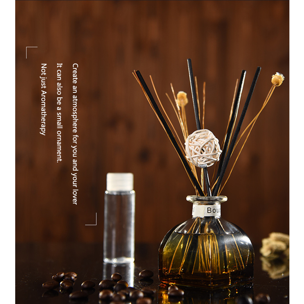 Essential Oil Portable Purifying Air No Fire Fragrance Car Office Home Aroma Diffuser Set Aromatherapy Scent Rattan Sticks