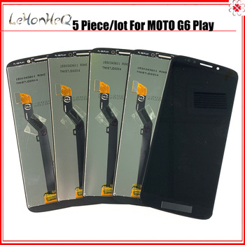 Wholesale 5 pieces Lot For MOTO G6 Play Display LCD Touch screen Digitizer For Motorola G6 Play Screen replacement lcd lvds video screen cable adapter for hp pavilion g6 2000 g6 2238dx g6 2001tx led screen flex cable dd0r36lc000