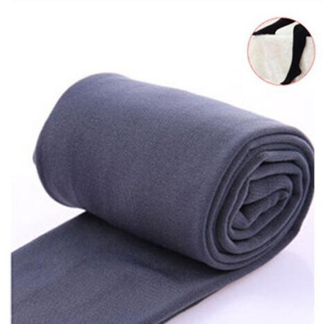 2020 Autumn winter woman thick warm leggings candy color brushed charcoal Stretch Fleece Pants Trample Feet Leggings 23