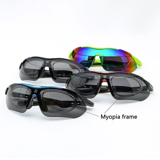 Uv400 miopia esporte ciclismo óculos das mulheres dos homens esportes ao ar livre mountain bike óculos de corrida 4