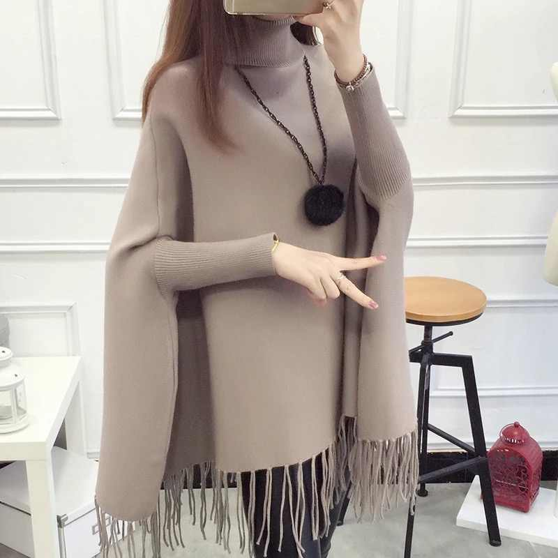 Pregnancy Knitted Maternity Sweater Autumn Winter Turn-down Collar Knitted Maternity Sweater a-line knitted pullovers
