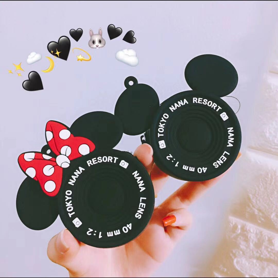 2019 New Fashion Mickey Minnie Coin Purse Personality Camera Purses Cartoon Silica Gel Clutch Coin Bag Mini Storage Bag