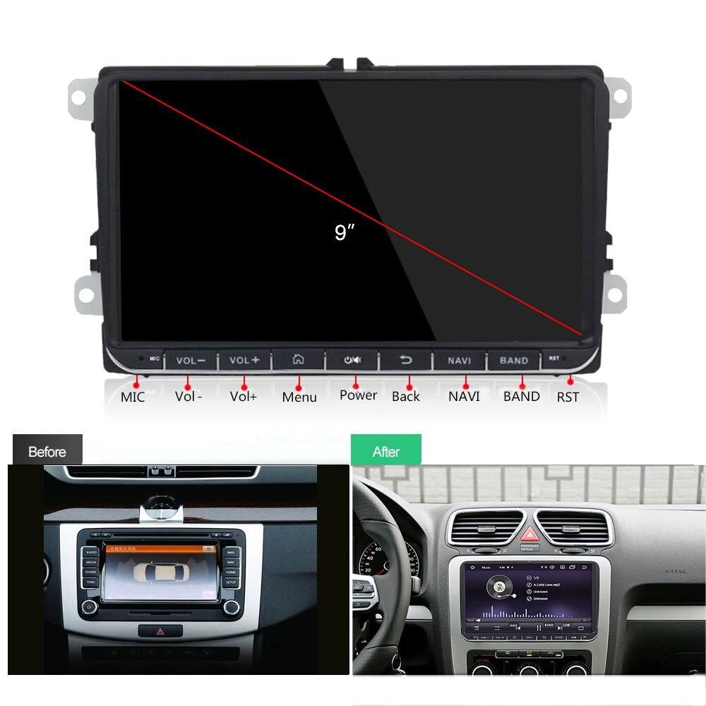 Funrover Android 9.0 DSP 2 din Car dvd gps Radio video per Volkswagen Passat CC Polo golf5 6 Touran EOS t5 Sharan Tiguan RDS BT - 2