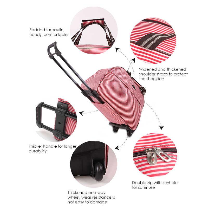 Oxford Rolling torba na bagaż podróż walizka na kółkach bagaż na kółkach dla mężczyzn/kobiet nosić torby podróżne