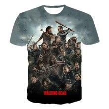 2020 футболка с 3d принтом из фильма «ужас» «Ходячие мертвецы»