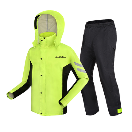 Adult Split Battery Motorcycle Raincoat Riding Waterproof Men and Women Rain Coat Pants Set Double Layer Jackets for Women Gift 3