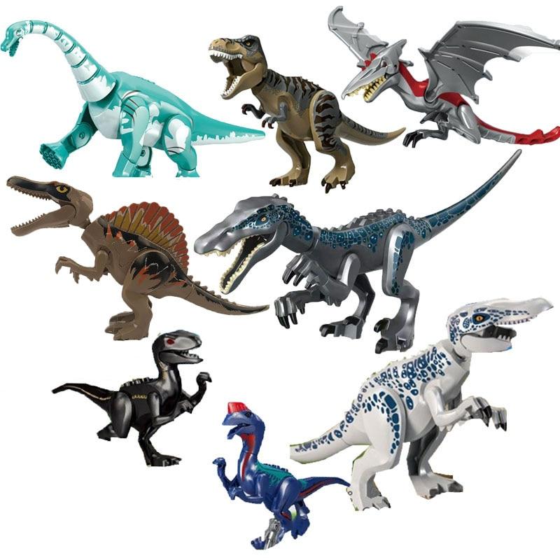 New Jurassic World Dinosaur Mechanical Tyrannosaurus Figure Building Blocks Bricks Legoinglys Toy Gift For Children