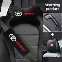 Car seat kit neck pillow pillowcase seat belt cushion handle gloves For Toyota avensis auris hilux Corolla RAV4 Car Accessories