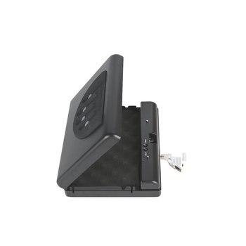 gunsafe gunbox portable pistol car safe gun box ammo metal case safes Key can safebox keybox strongbox boxes safety security