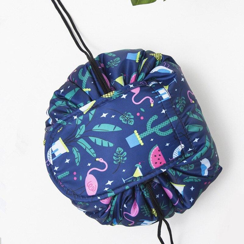 Women Fashion Drawstring Travel Cosmetic Bag 2020 Makeup Bag Organizer Case Storage Pouch Toiletry Beauty Make Up Kit