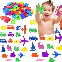 36 個のパズル風呂のおもちゃエヴァの手紙ミニ輸送ペースト幼稚園認知言葉ジグソーパズル浴室ゲームキッズ教育玩具