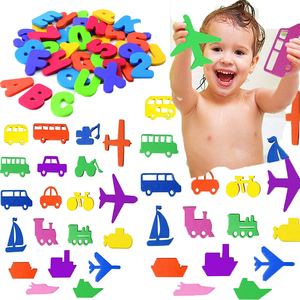 Baby Puzzle Bath Toy EVA Alphanumeric Letter Paste Kindergarten Cognitive Word jigsaw Bathroom Number forKid Early Education Toy(China)